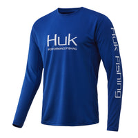 Huk Blue Huk Icon X Long Sleeve Fishing Shirt