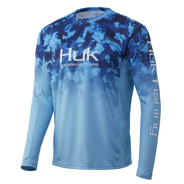 San Sal Huk Icon X Refraction Camo Fade Long Sleeve