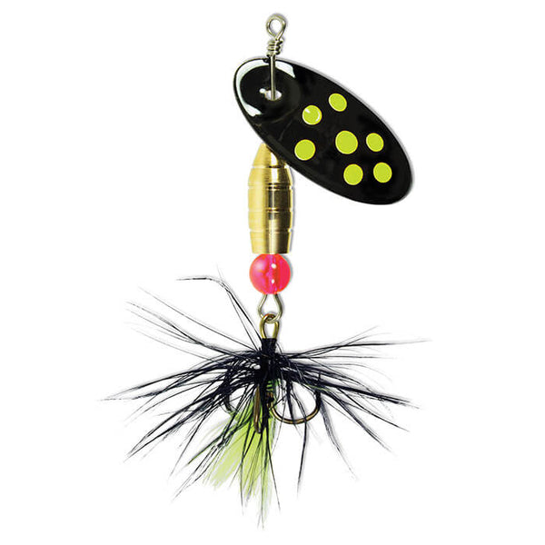 Black Chartreuse Panther Martin Black Panther Dressed Treble Spinner