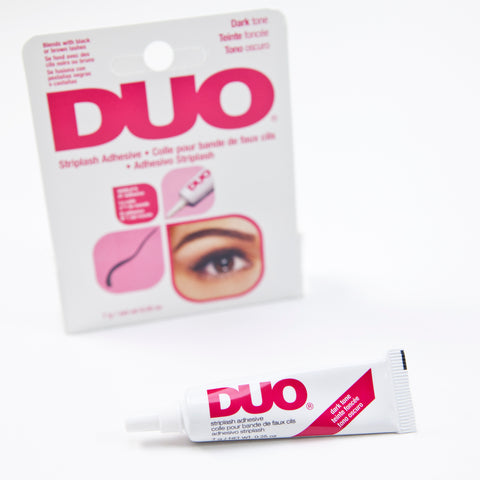 Latex-free lash adhesive, clear