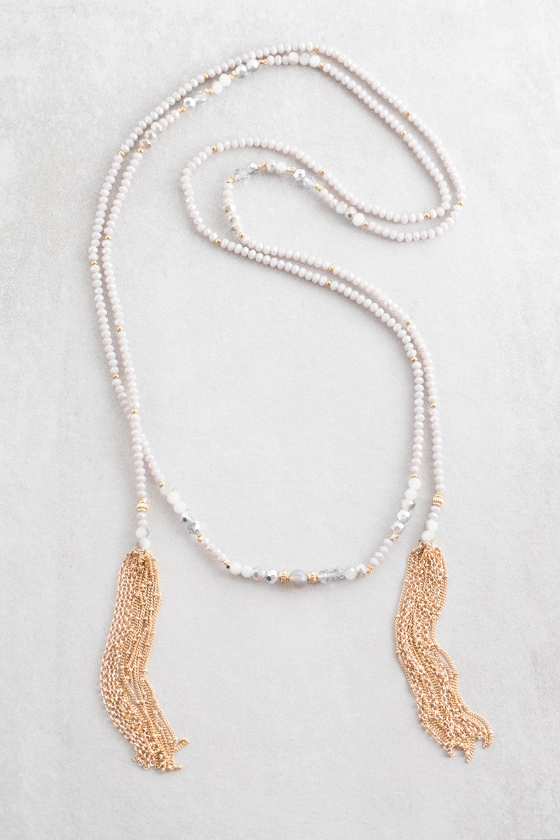 Skylar Beaded Wrap Necklace