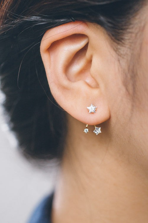 Wish Upon a Star Ear Jacket - 14k Gold