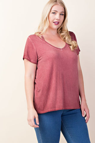 Harlow Cut Out V-Neck Tee