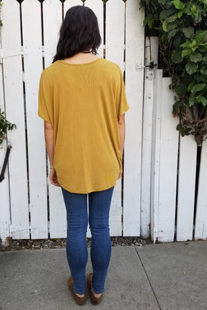 Goldenrod Twist Top