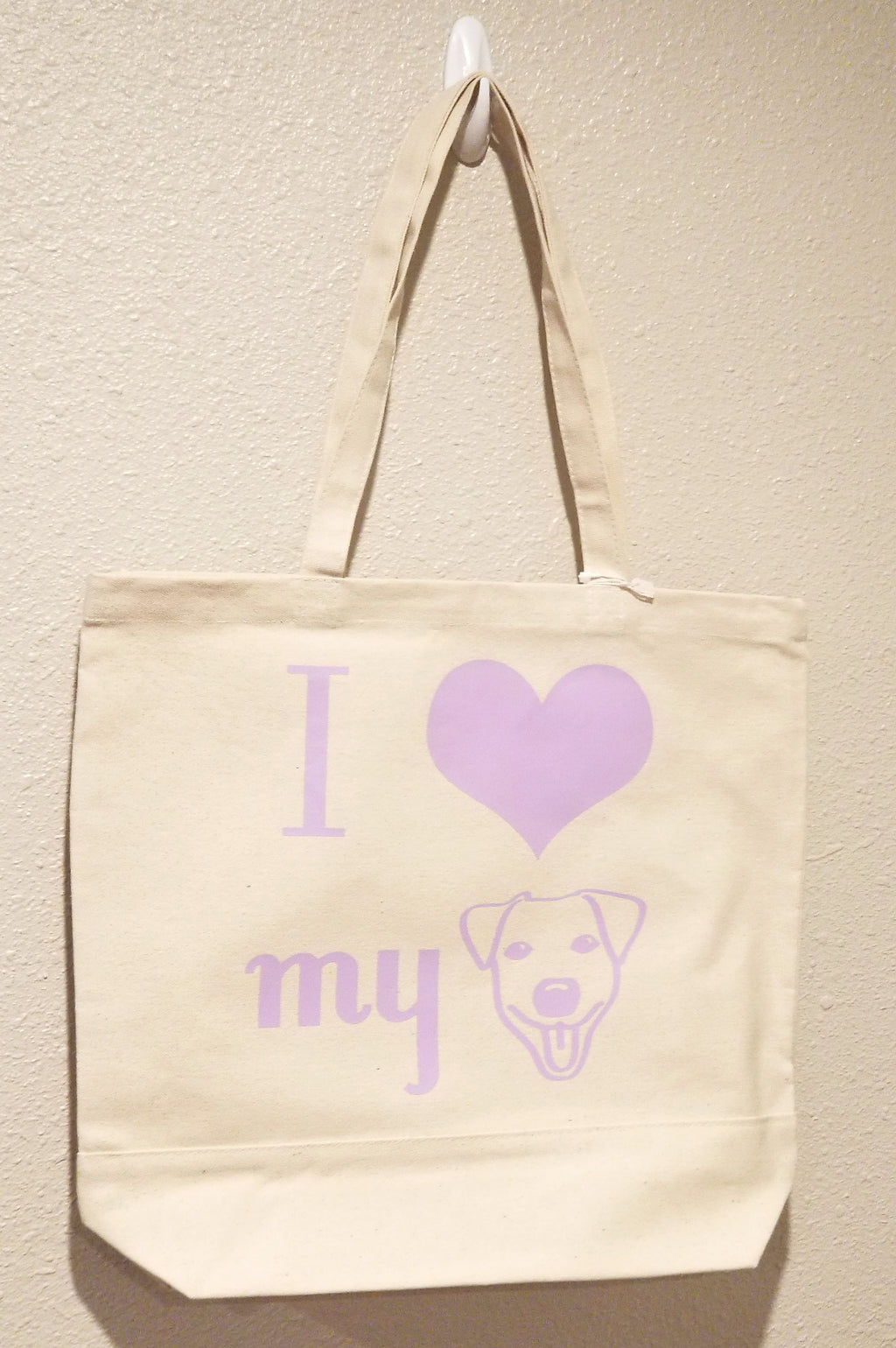 I Love My Dog - Lilac Tote Bag