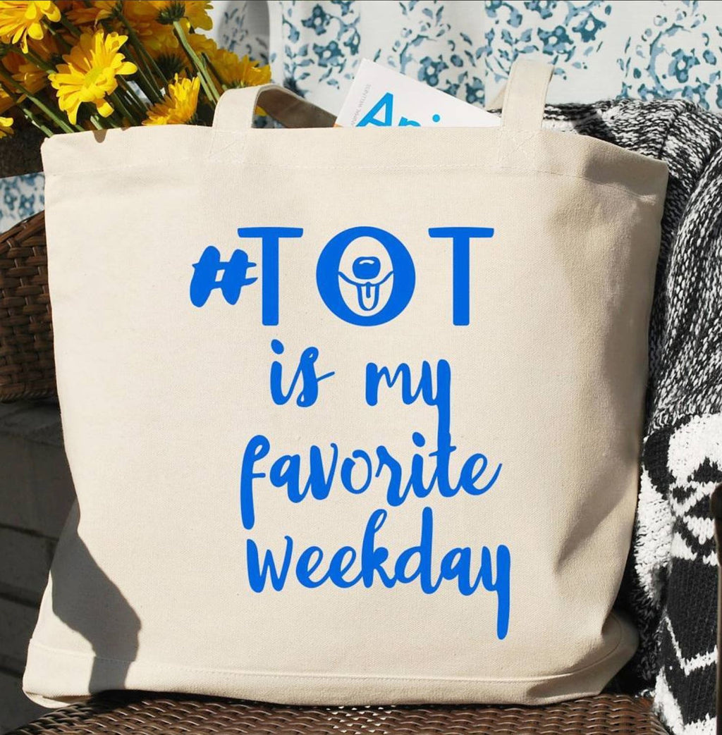 Tongue Out Tuesday Tote Bag