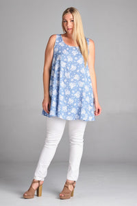 Floral Chambray Tunic