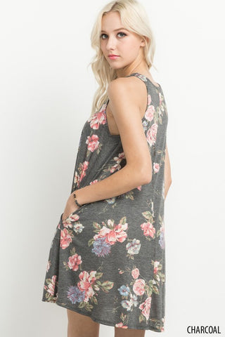 Delilah Floral Sleeveless Tunic Dress