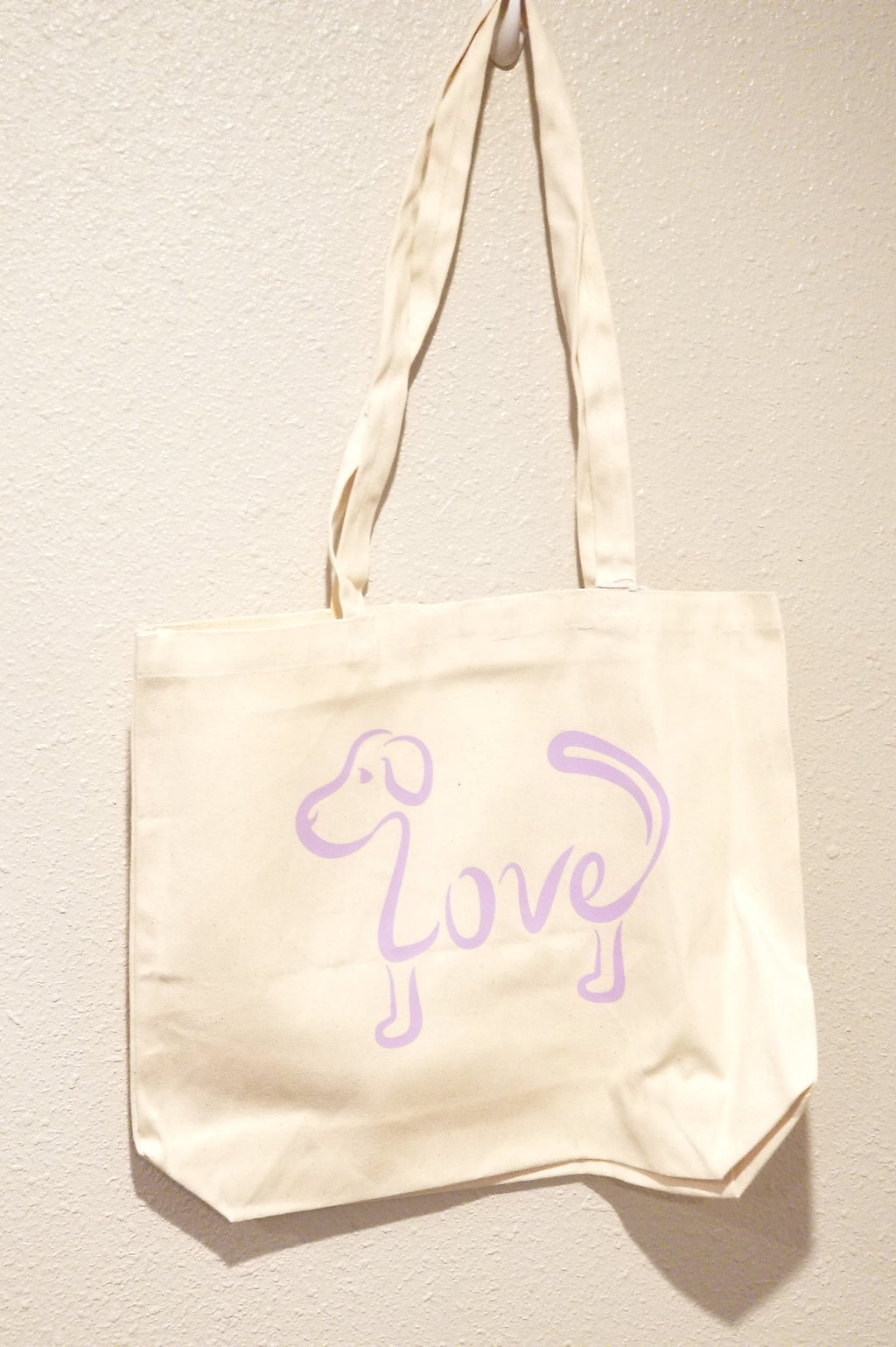 Love Dog - Lilac Tote Bag