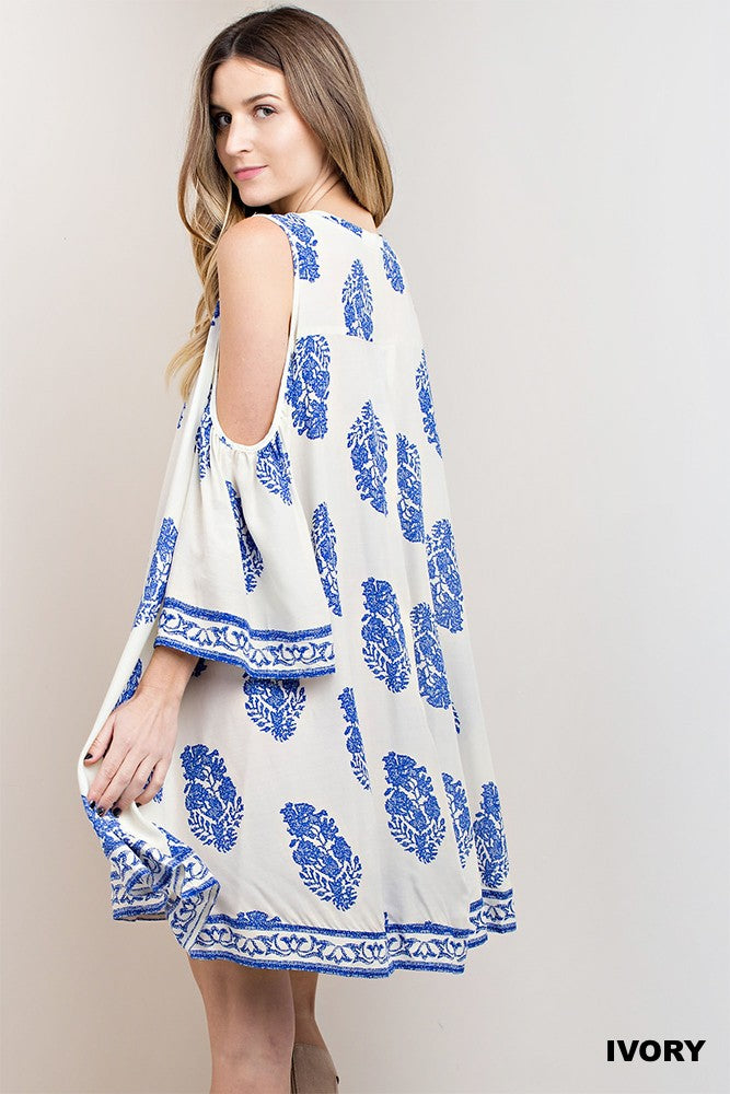Catalina Cold Shoulder Dress
