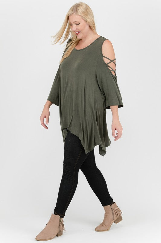 Meadow Cold Shoulder Tunic