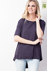 Morgan Ruffle Hi-Lo Tunic in Titanium