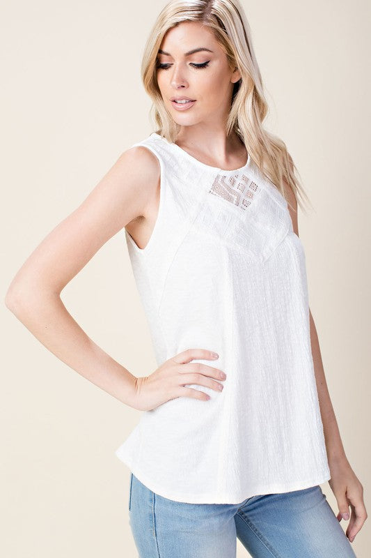 Zoe Lace Knit Tank Top