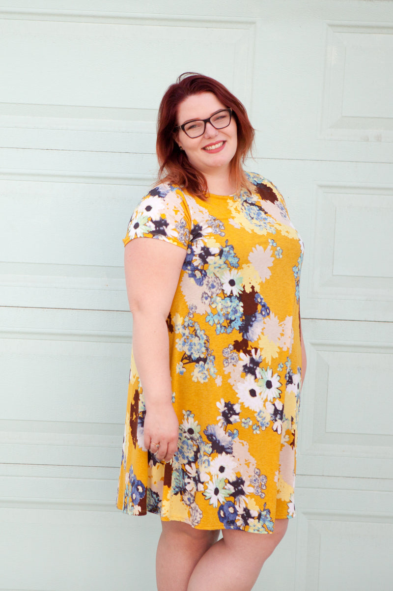 Joy Floral Swing Tunic Dress