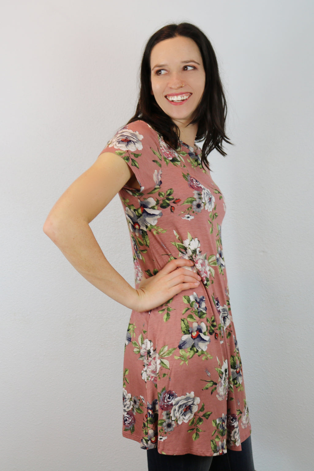 Pasadena Floral Swing Tunic Dress