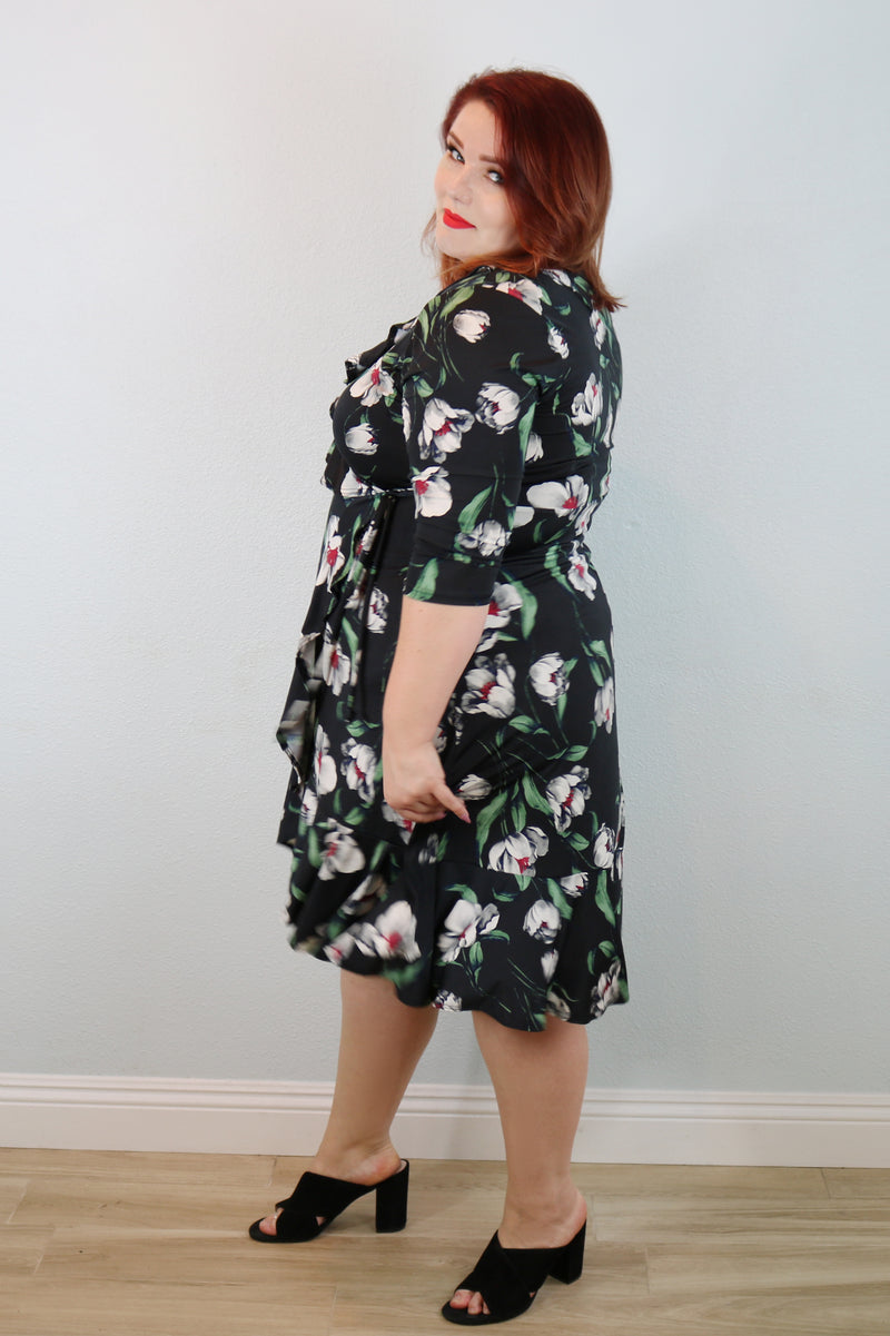 Valencia Ruffle Midi Dress