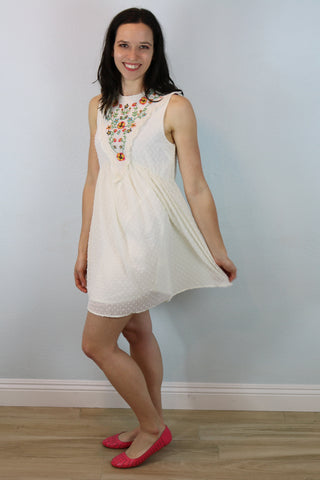 Hermosa Embroidered Swing Dress