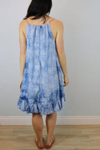 Oceanside Ruffle Trapeze Dress