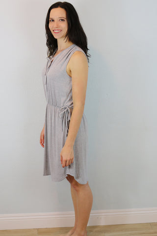Glendale Lace Tank Dress in Gray