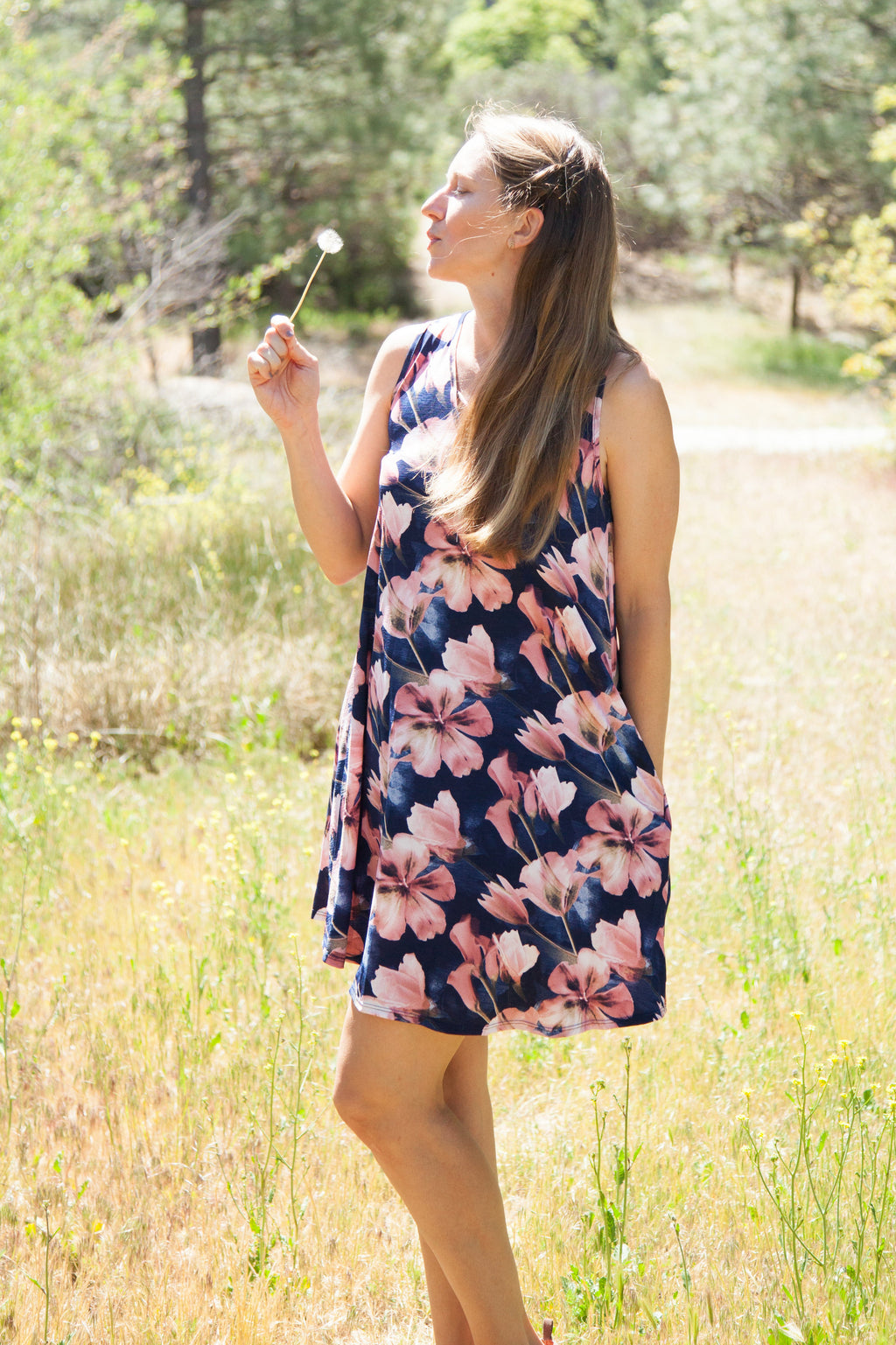 Dani Watercolor Floral Tunic Dress