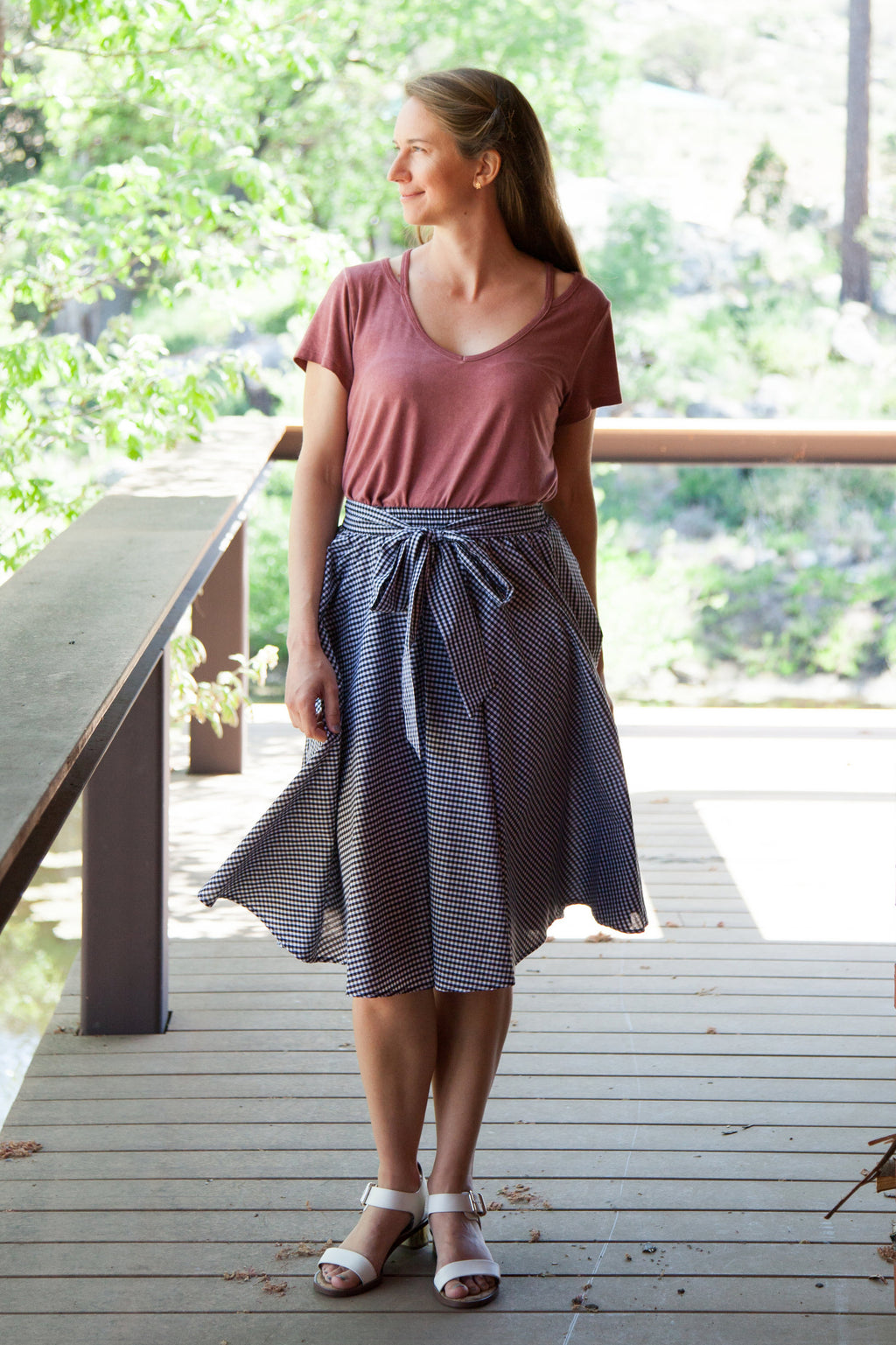 Sweet in Gingham Midi Skirt