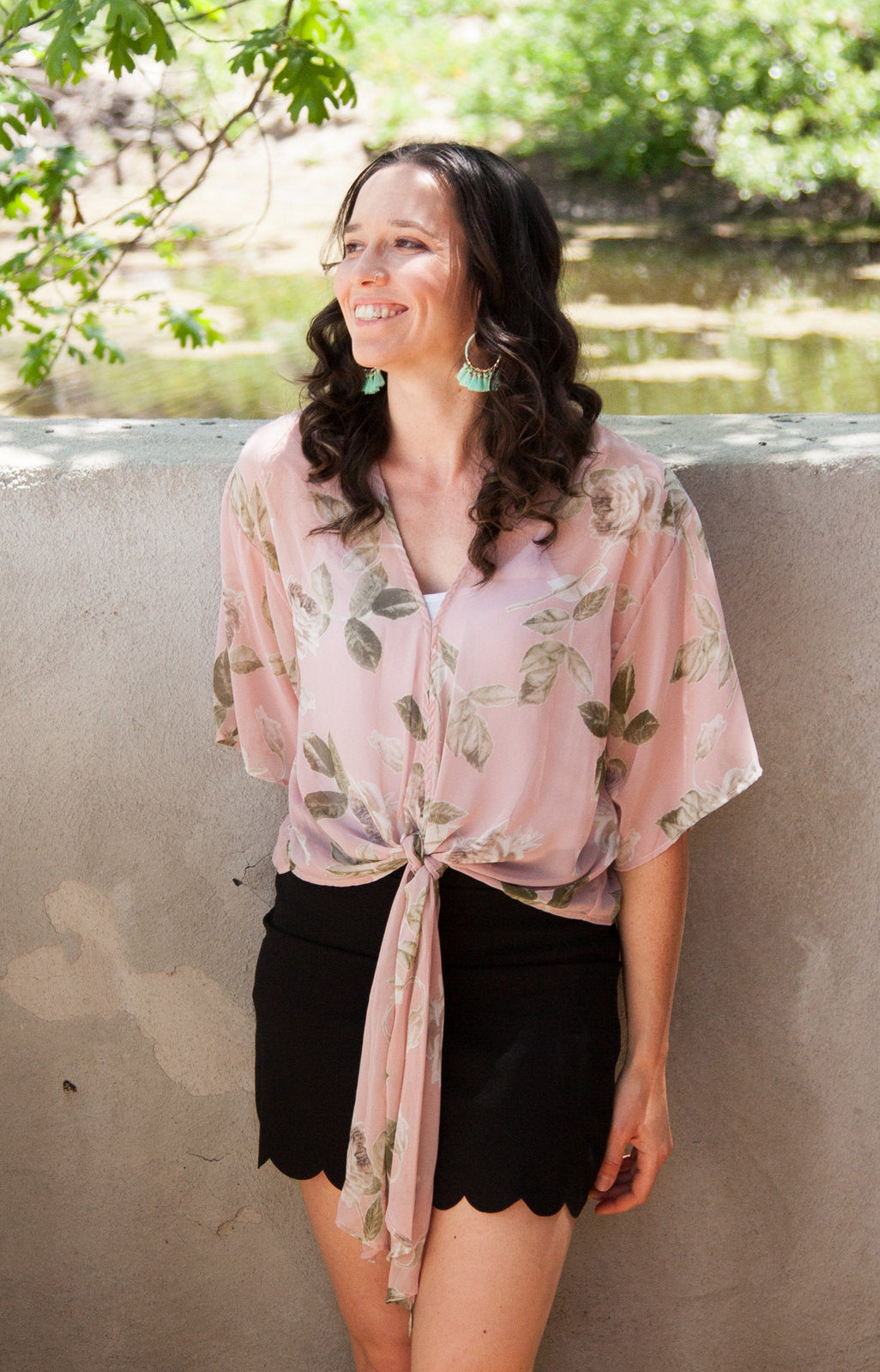 Palm Springs Chiffon Top