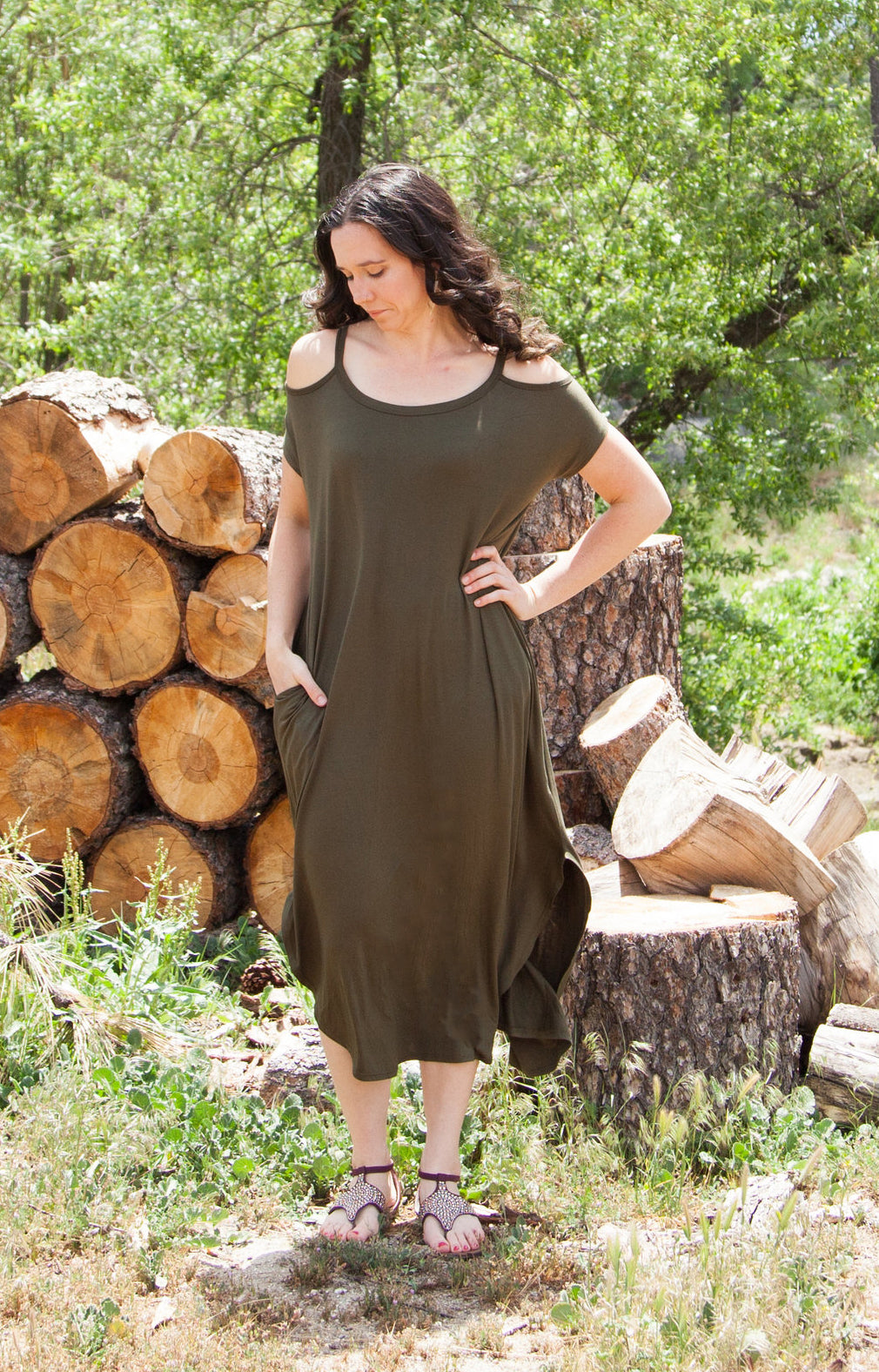 Harper Cold Shoulder Maxi Dress