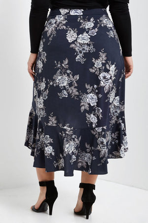 Eden Hi-Lo Wrap Skirt