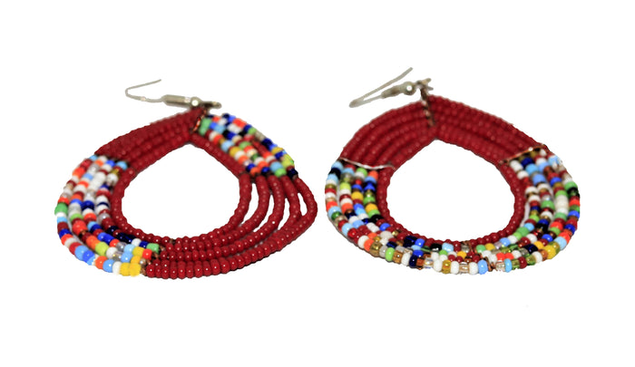 Multi Colored burgundy earrings