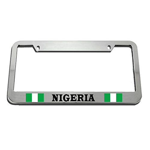 Nigerian Metal License Plate Frame Tag Border