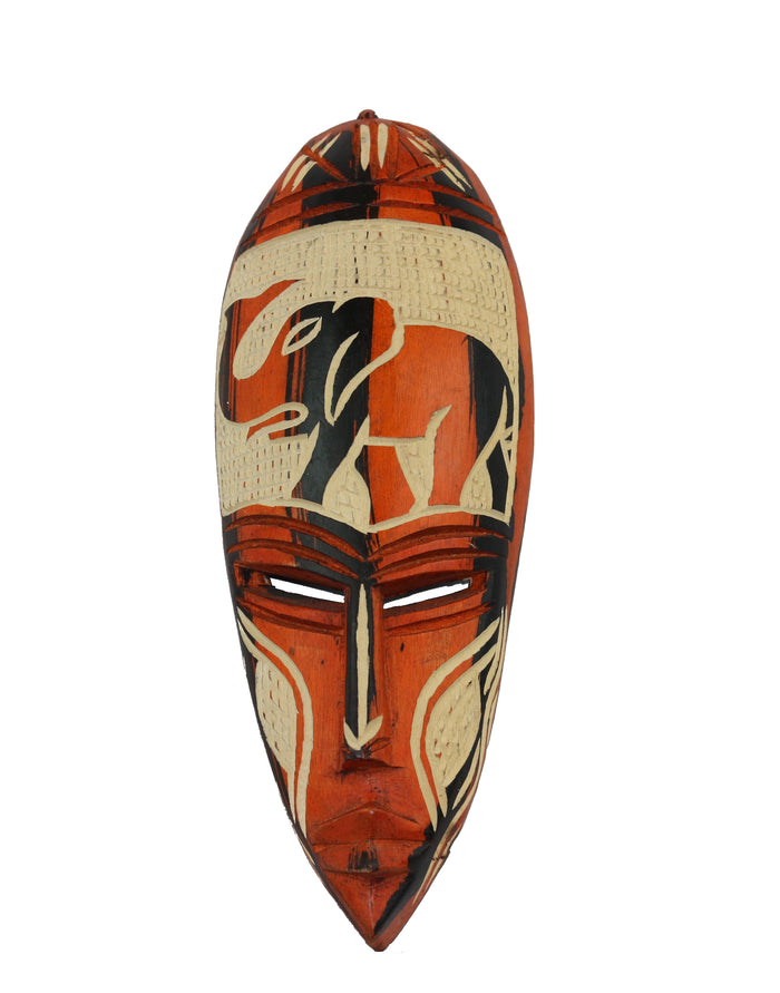 Hand Carved Nigerian Mask, 'Be Present'