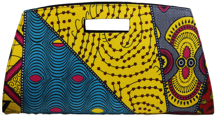 Yellow and Blue clutch Bag