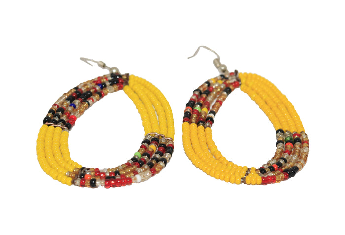 Multi Colored Yellow Earrings