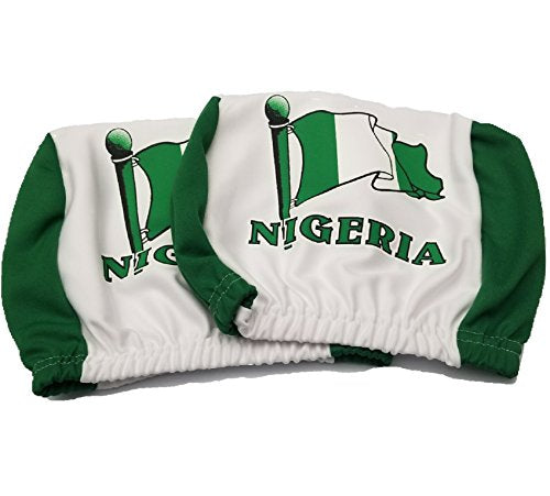 Nigerian Flag Headrest Cover