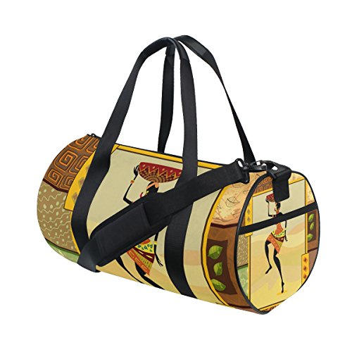 African Lady Tribal Print Travel Duffel Shoulder Bag