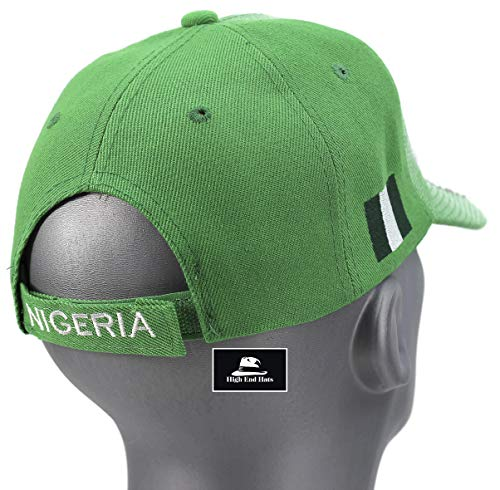 Nigeria 3D Embroidered Adjustable Baseball Cap