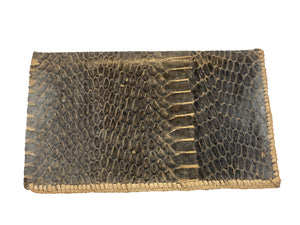 Snakeskin Handmade Leather Wallet