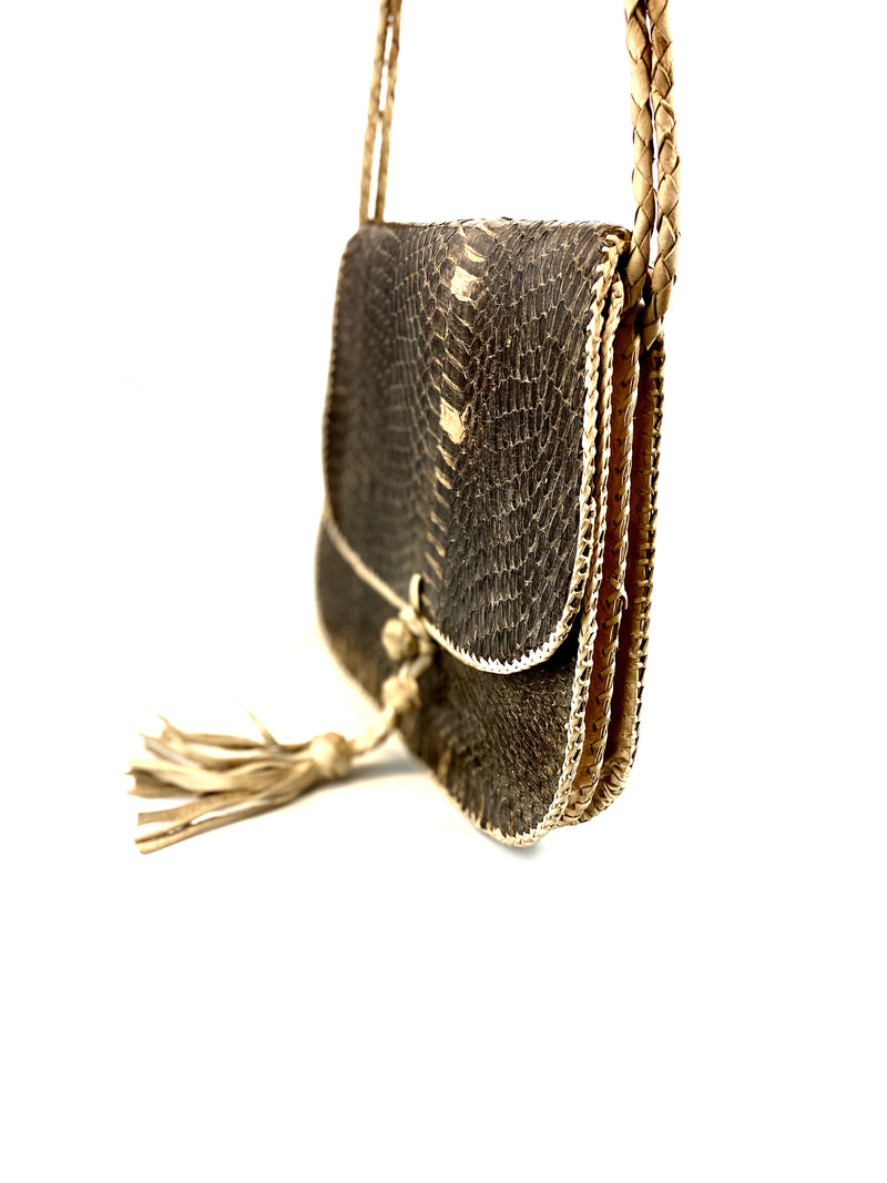 Brown Snakeskin Shoulder Bag