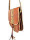 Amber Leather Snakeskin Shoulder Bag
