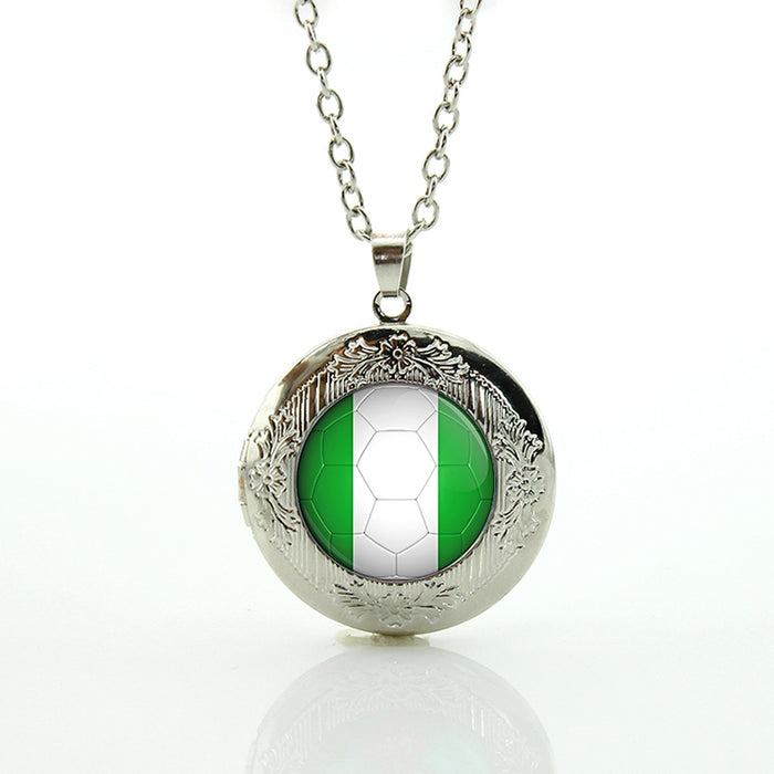 Classic Collection gift for men Nigeria football team logo locket necklace