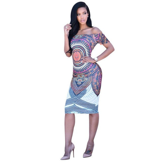 Dashiki Print Women Dress