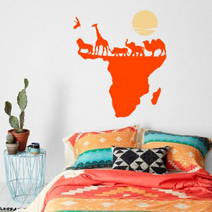 Wall Decal Map of Africa, Nature, Animal