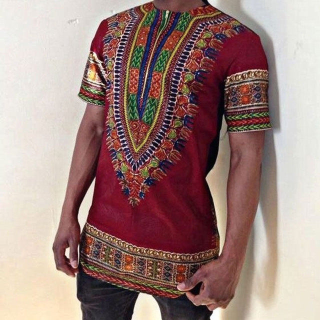 Men Hipster Zipper Dashiki Shirt