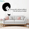 Black Queen - Love Yourself Vinyl Wall Stickers