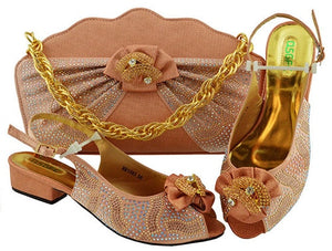 African Wedding Women Shoes and Bag Set