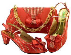 Haniye Shoe and Matching Bag (Coral)
