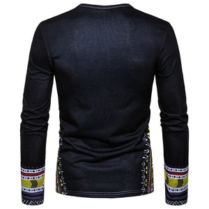 2019 Long Sleeve Traditional Print (Black)
