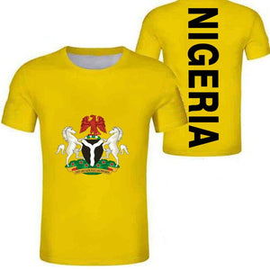 Casual T-Shirt - Nigeria Coat of Arms (Yellow)