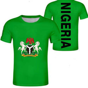Casual T-Shirt - Nigeria Coat of Arms (Green)