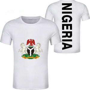 Casual T-Shirt - Nigeria Coat of Arms (White)